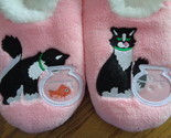 Snoozies Cosy Feet Coverings Style Simply Pairables Cat/Fish Womens Slippers L 9