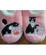 Snoozies Cosy Feet Coverings Style Simply Pairables Cat/Fish Womens Slip... - £14.35 GBP