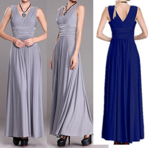 Women's Long V-neck Plated Evening Party Dresses Prom Gown Ever-pretty P... - $29.89