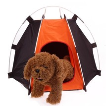 Portable Pet Camping Tent Rainproof Dog Cat House Shelter Folding Dirt-R... - $20.48