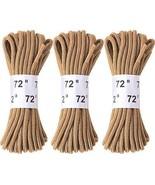 "3 Pack - Desert Tan Nylon Plastic Tipped Boot Laces 72"" - $8.99"