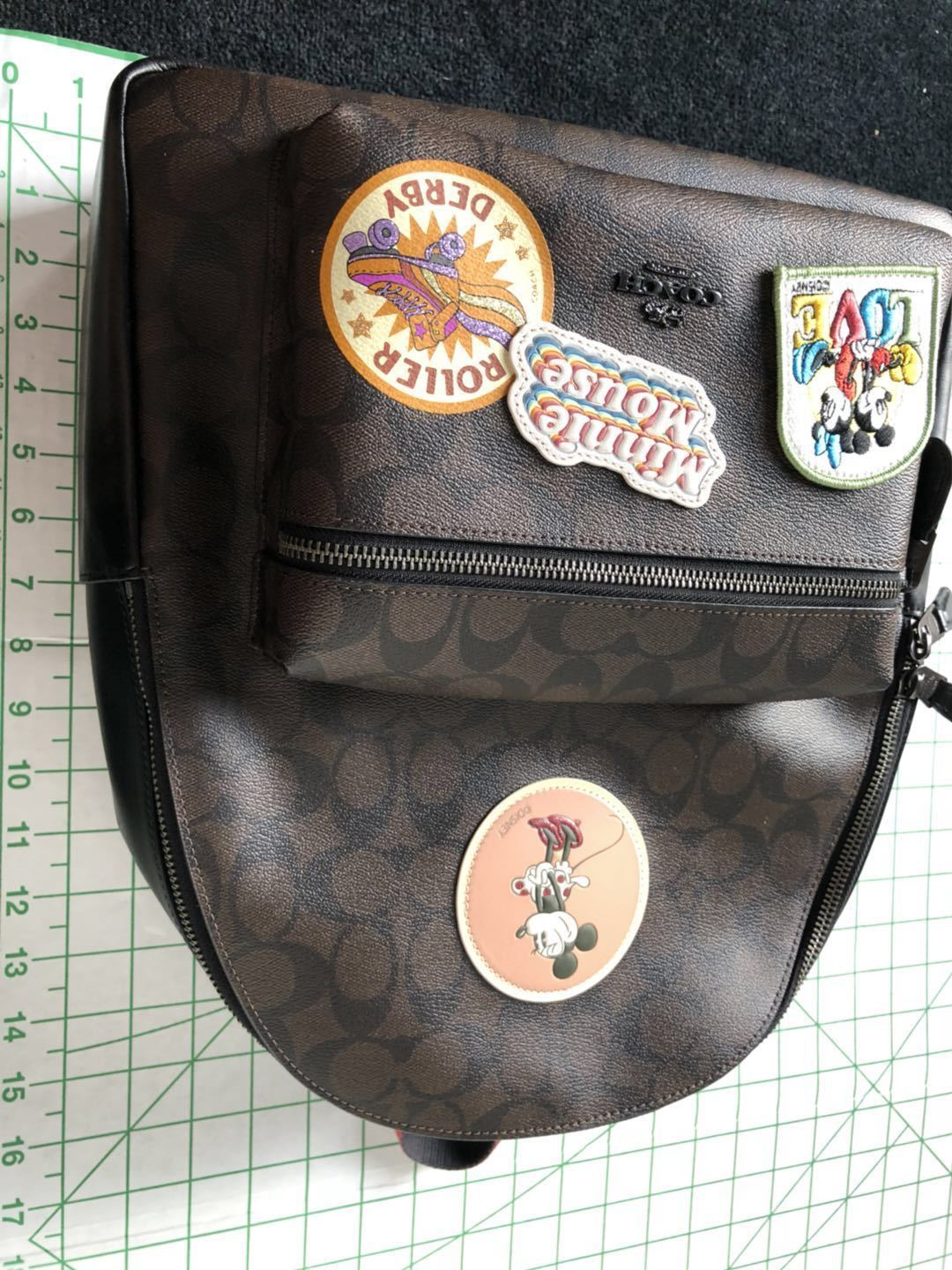 a85eb4386c3 NWT WOMEN S COACH X DISNEY (F29355) MINNIE MOUSE SIGNATURE LEATHER BACKPACK  BAG