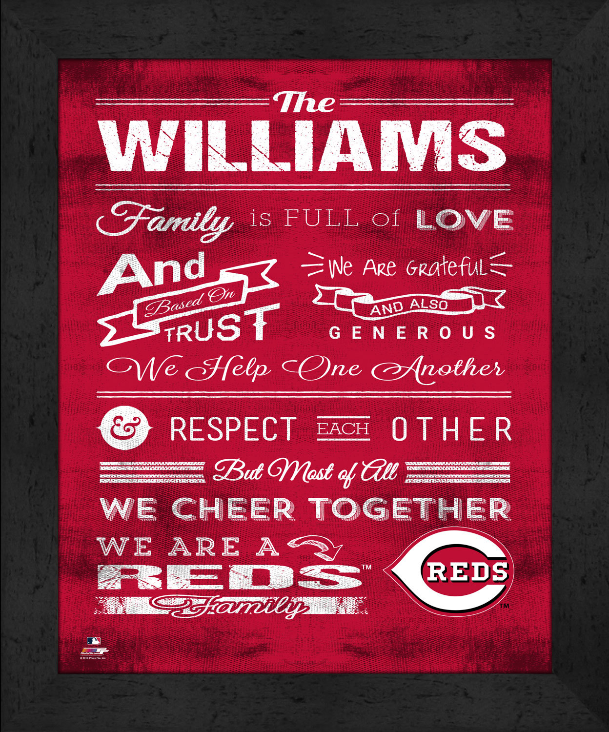 "Primary image for Cincinnati Reds ""Family Cheer"" 13 x 16 Framed Print"