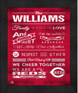 "Cincinnati Reds ""Family Cheer"" 13 x 16 Framed Print - $39.95"