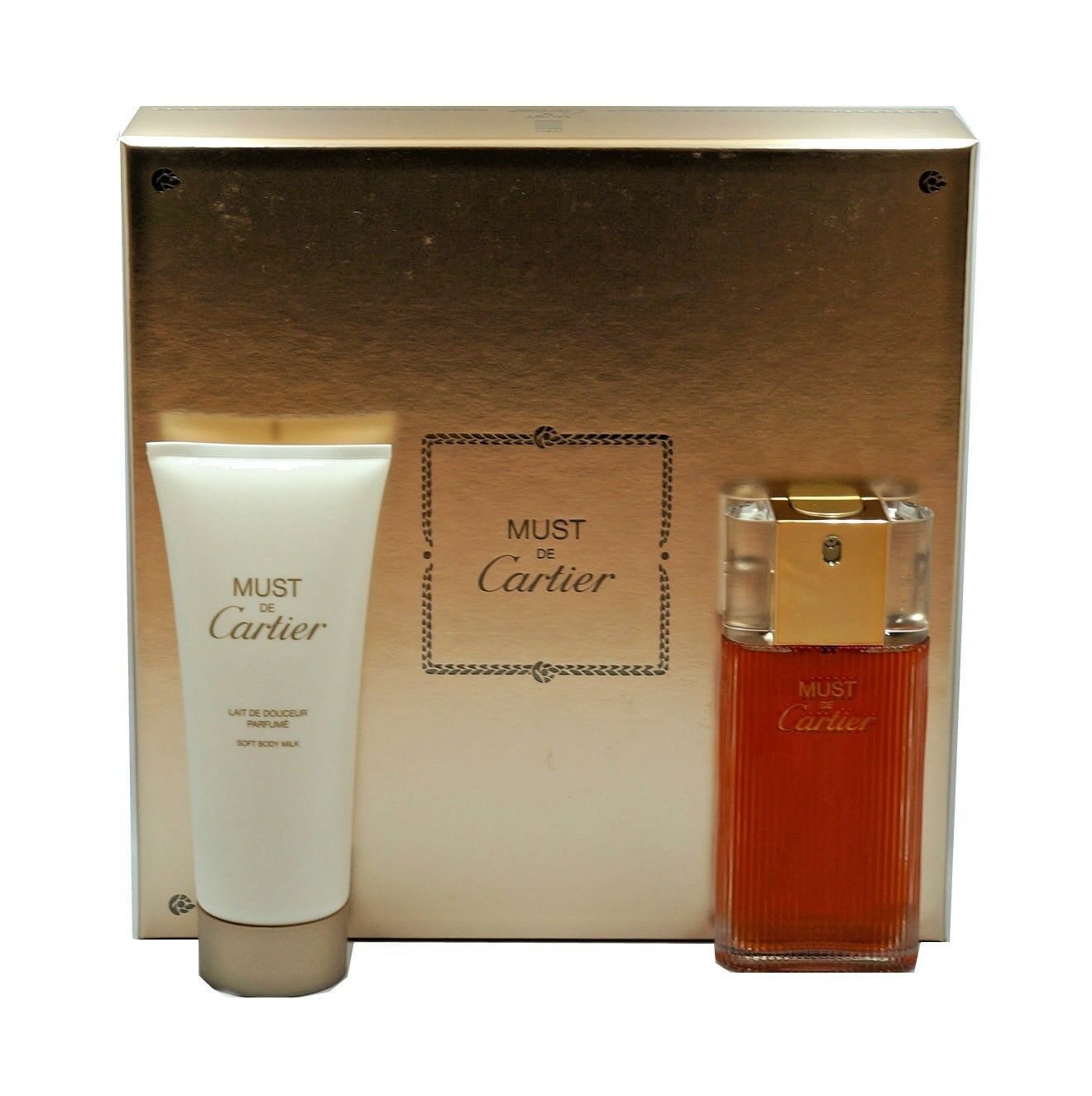 MUST DE CARTIER 2PC GIFT SET EAU DE TOILETTE NATURAL SPRAY 50ML NIB