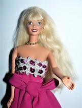 1980s Mattel Twist N Turn Barbie Doll in fuchsia gown with jewelries & s... - $11.88