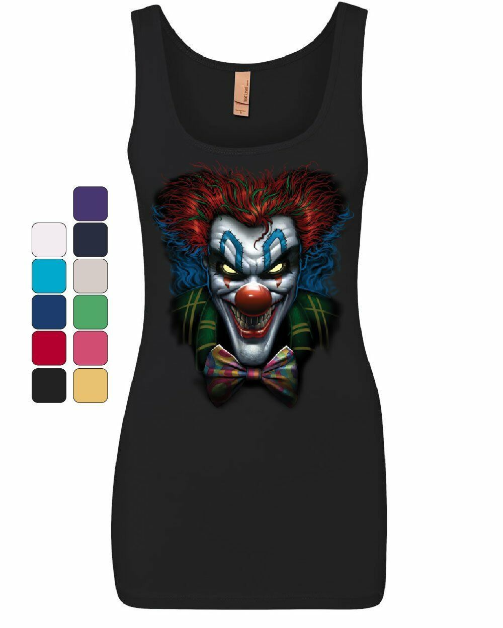 Primary image for Psycho Clown Women's Tank Top Nightmare Evil Creepy Scary Horror Fobia Top