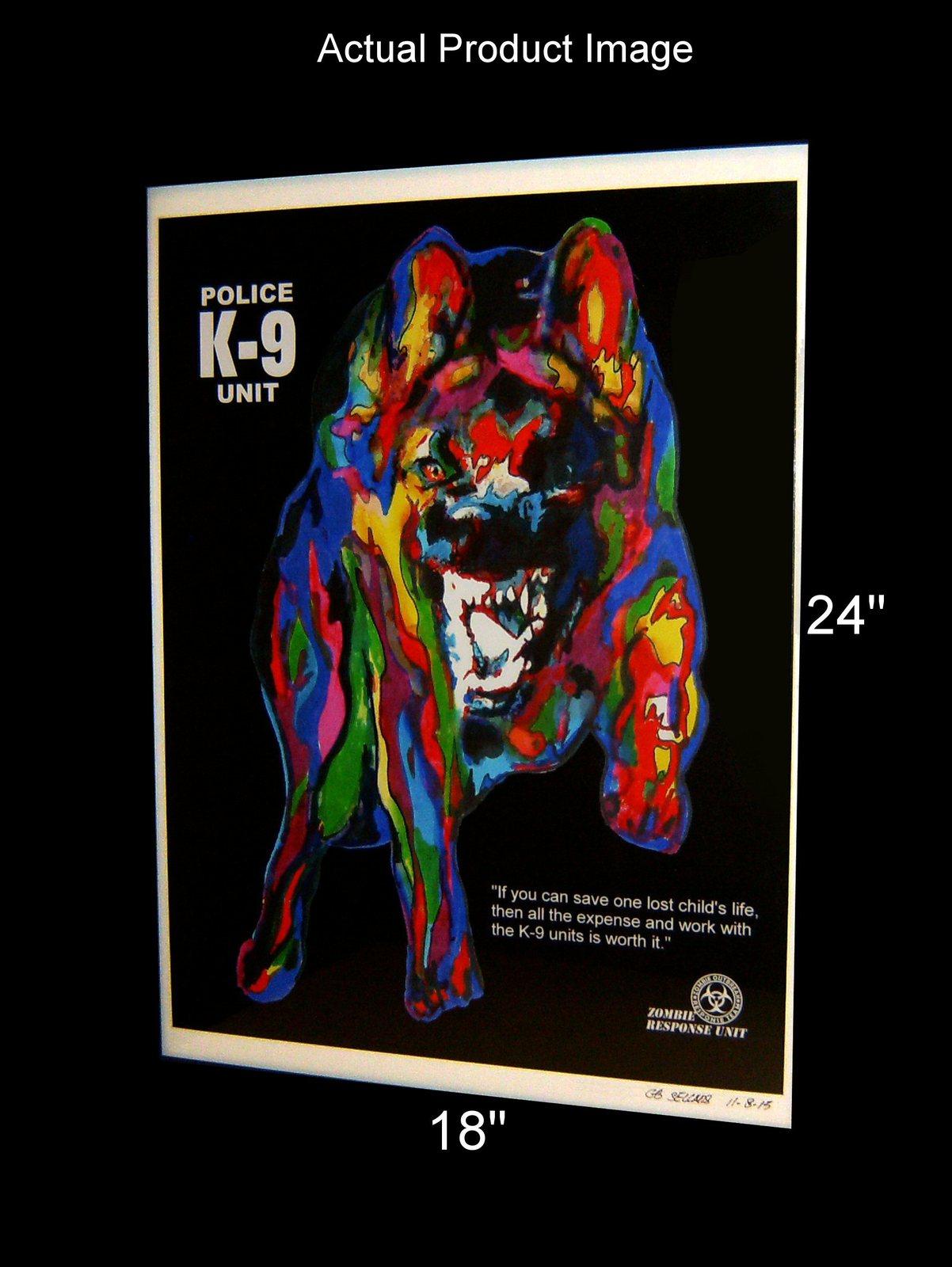 "German Shepherd, Police Dog, Pet, 18""x24"" Art Print 4"
