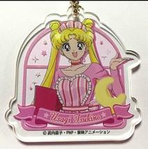Sailor Moon Acrylic Keychain Strap Usagi Tsukino Sailor Moon Cafe 2017 F/S - $36.62