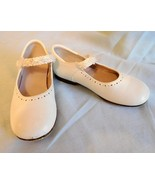 SHOES JUMPING JACKS Toddler White Leather ANNALISE Strap Sz 9M Preown (T) - $20.99