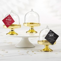 Personalized Small Bell Jar with Gold Base - Celebration (Set of 12)  - $21.99
