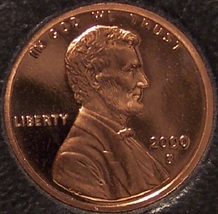 2000-S DCAM Proof Lincoln Memorial Penny #0318 - $4.29