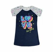 Wonder Nation Love Our World Star Girls Nightgown Gown Sleepwear Size XX... - $9.49