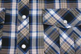 Men's Western Short Sleeve Button Down Casual Plaid Pearl Snap Cowboy Shirt image 14