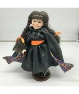 Geppeddo Happy Halloween Hillary Doll Witch Pumpkin Trick or Treat - $25.74