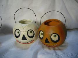 (3) Bethany Lowe Halloween Character Buckets Ornaments image 3