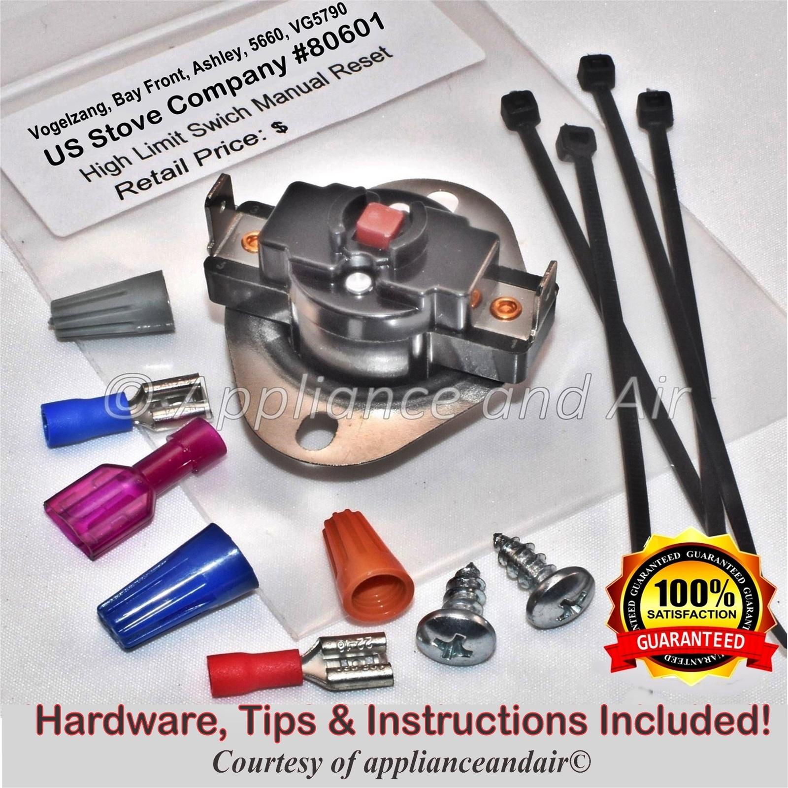 Us stove company 80601 manual reset limit
