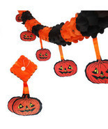 Pumpkin Scary Garland Halloween paper Decoration party decoration Banner... - £6.05 GBP