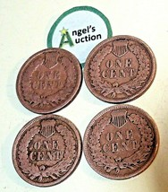 Indian Head Penny 1895, 1896, 1898 and 1899 AA20-CNP2131 Antique image 2