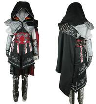Assassin's Creed II Ezio Auditore da Firenze Black Cosplay Costume Full Set - $138.00