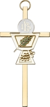 Communion Chalice Wall Cross - Gold  - $32.99