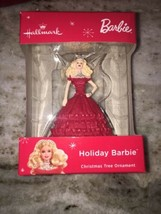 2018 Hallmark HOLIDAY BARBIE Mattel in red ruffled dress doll ORNAMENT #4 - $23.76