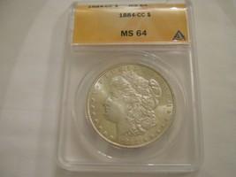 1884 CC , Morgan Dollar , MS 64 , ANACS Certified - $395.00