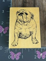 "Stamp Gallery Rubber Stamp Old English Bulldog 3"" Puppy Pet #K149 - $12.86"