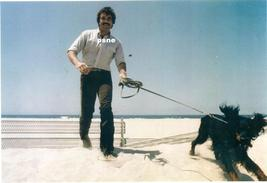 Tom Selleck w/ Dog on the Beach Candid 8x10 Photo 8X-460 #5 - $14.84