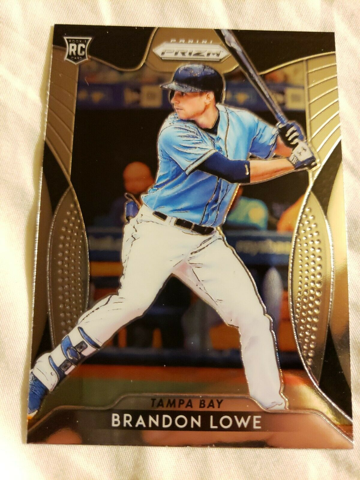 Primary image for 2019 Panini Prizm Brandon Lowe Tampa Bay Rays Rookie Baseball Card #64.