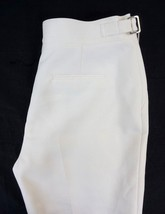 NWT Anne Klein Women's White High Waist Buckle Detail Dress Pants 6 x 34 - $37.71