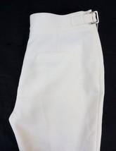 NWT Anne Klein Women's White High Waist Buckle Detail Dress Pants 6 x 34 - $37.71