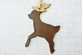 Reindeer Ornament, Personalized Reindeer, Reindeer Lover Gift - Handmade - $11.99