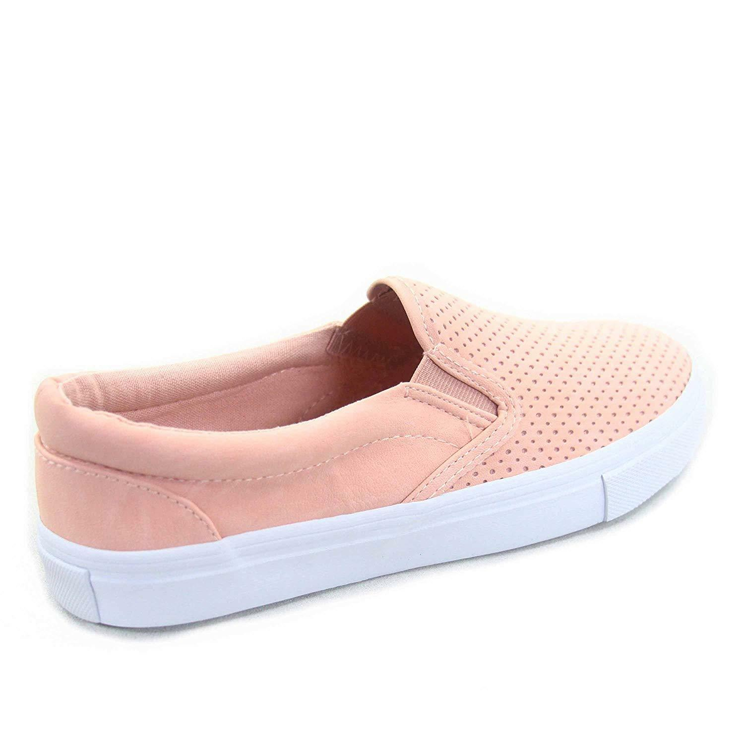 Soda Tracer-S Women's Cute Perforated Slip On Flat Round Toe Sneaker Shoes image 8
