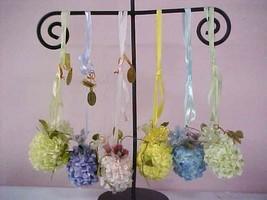 katherine's collection flower petal eggs ornament Easter Spring  set of 6  - $36.62