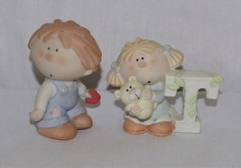 Vintage Bumpkins Porcelain Figurine LOT of 2 Hallmark  - $4.95