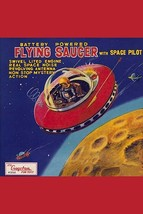 Battery Operated Flying Saucer - Art Print - $19.99+