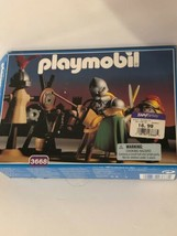 Playmobil 3668 Vintage 1993 Knights Training Jousting Toy Play Set New O... - $23.75