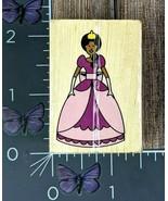 Melissa and Doug Princess Rubber Stamp Standing Crown Purple Dress Wood ... - $1.24