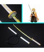 Kimetsu no Yaiba Zenitsu Agatsuma Nichirin Blade Cosplay Replica Prop fo... - $125.00