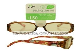 FOSTER GRANT* Reading Glasses 20/20 For Women ZENI Brown+Flowers OPTICAL... - $5.41