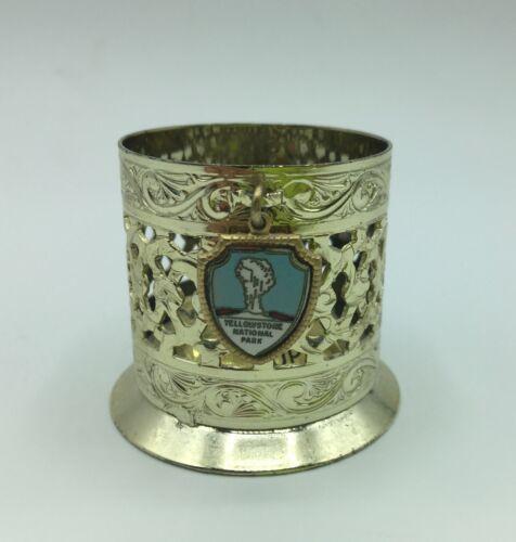 Vtg Yellowstone National Park Souvenir Bobby Pin Holder Magnetic Cup Trinket