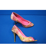 7 M Charlotte Russe Ladies High Heel shoes Pink Hot Soft Satin Womens Op... - $19.99