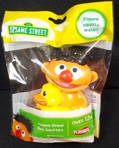 Sesame Street friends Bath Squirter Ernie holding duck Playskool Hasbro NEW - $4.90
