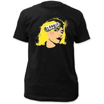 Blondie Face Black T-Shirt Men's Officially Licensed Band 80's New Tee S... - $21.00