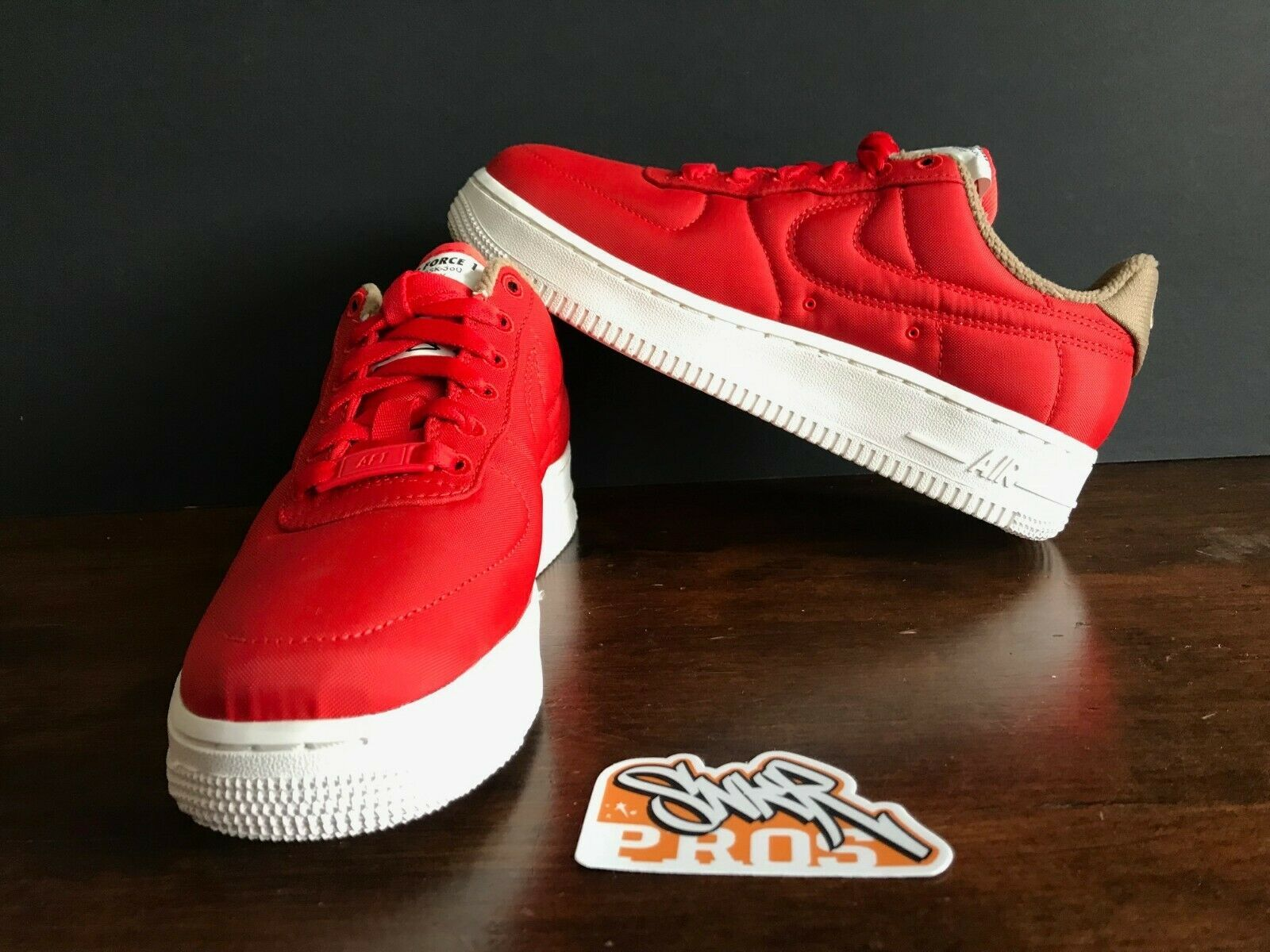 NIKE W AIR FORCE 1 '07 LX HABANERO RED WHITE 898889 600 US WMNS SZ 10