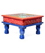 Multi Color Bajot Chowki Chaurang Patli Pooja Small Table Stool for Dail... - $68.95