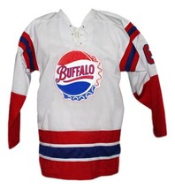 Any Name Number Buffalo Bisons Retro Hockey Jersey White Any Size image 1