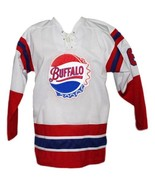 Custom Name # Buffalo Bisons Retro Hockey Jersey New White Any Size - $54.99+