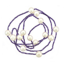 12mm Pearl & Natural Amethyst Necklace - $454.41